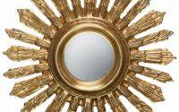 Oglinda din cristal cu rama aurie soare