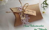 Cutie pentru marturii nunta-decorata cu dantela