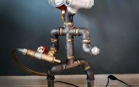 Lampa Steampunk Pipe Robot Lampa Industriala