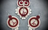 "Set pandantiv si cercei soutache ""Paris owl"""