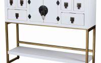 Comoda exotica TV din lemn masiv alb