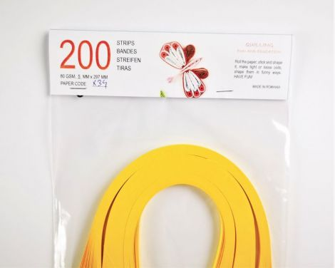 Hartie quilling Sun Yellow 5 mm 80 gsm 200 fasii
