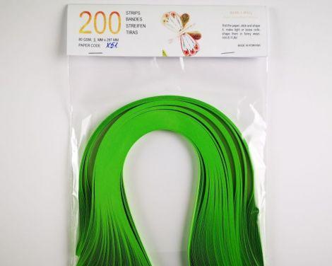 Verde Inchis Hartie quilling 80 gr 5 mm X51