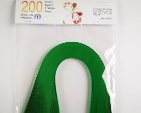 Christmas Green Hartie quilling 5 mm 80 gr C90