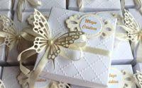 Cutie decorata cu fluture-marturii nunta botez