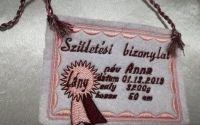 certificat de nastere brodat