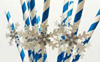 Paie decorate cu fulg de zapada