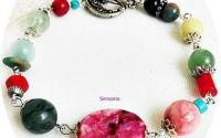 Bratara multicolor cu pietre semipretioase