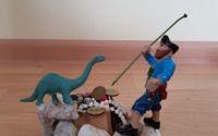 Decoratiune handmade Piratul comoara  dinozaurul