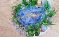 Decoratiune hand-made - Iaz cu crocodili
