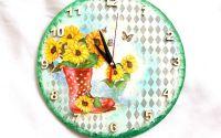ceas de perete floarea soarelui