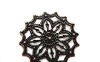 Baza filigran cupru rozeta stea  floare 35mm