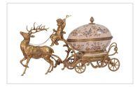 Cutie pentru bijuterii din portelan cu bronz