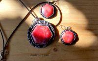 Red ones set bijuterii din lut polimeric