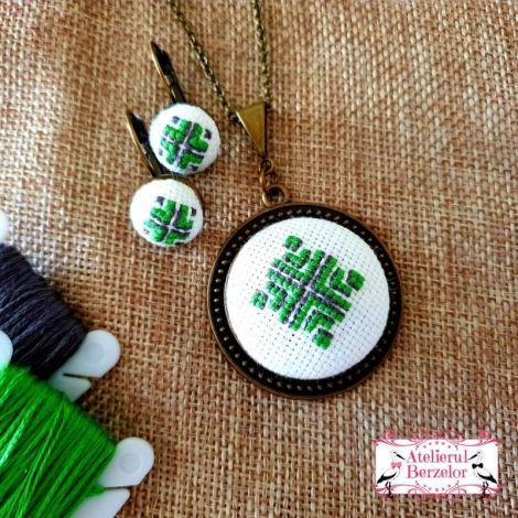 Set verde cusut manual