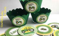 Invelitori briose verzi cu tractoras