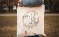 Sacosa bumbac Bicicleta Pretty