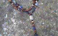 Colier barbatesc unicat din pietre sempretioase