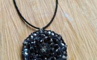 Colier Mandala negru-argintie