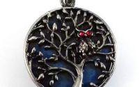 Pandantiv lapis lazuli cu rama argintie copac