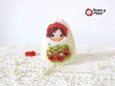Brosa Matrioska - Happy Poppy