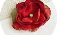 brosa - floare rosu corai