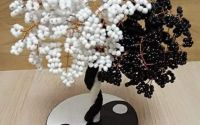 Copac yin-yang handmade cu 41 ramuri din mrgele