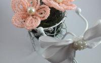 Marturie handmade tricicleta cu flori