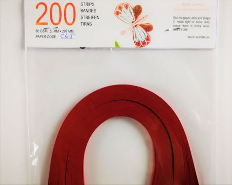 Christmas Red Hartie quilling 5 mm 80 gr C45