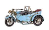 Model de motocicleta bleu cu atas