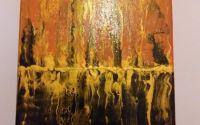 Tablou abstract flacari