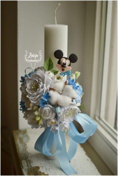Lumanare de botez Mikey Mouse