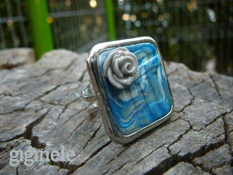 Blue Waves - Square Sea Rose