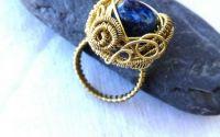 Inel bronz Trandafir stilizat