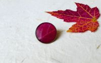 Brosa pin cu frunza naturala de toamna in rasina