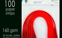 Carton quilling Rosu Inchis 160 gsm 5 mm