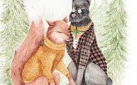 Portret antropomorf cu animalute