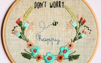 Punch Broderie Dont Worry Be Happy