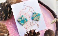 Tania - cercei tinta cu pattern floral