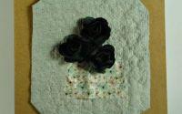 Felicitari flori mici A6 - negru