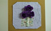 Felicitari flori mici A6 - mov