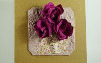 Felicitari flori medii A6 dark magenta