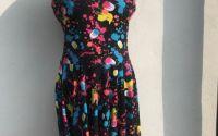 Rochie jerse colorata