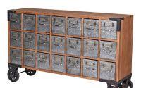 Comoda pentru farmacie din metal cu lemn masiv