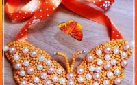 Colier Fluture Orange