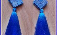 Cercei franjuri Blue