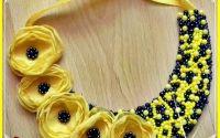 Colier Flori galbene