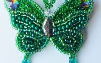 Brosa Fluture regal verde