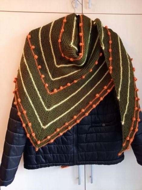 Sal handmade din acril lana si mohair unicat