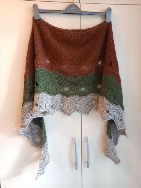 Sal din acril si lana handmade unicat